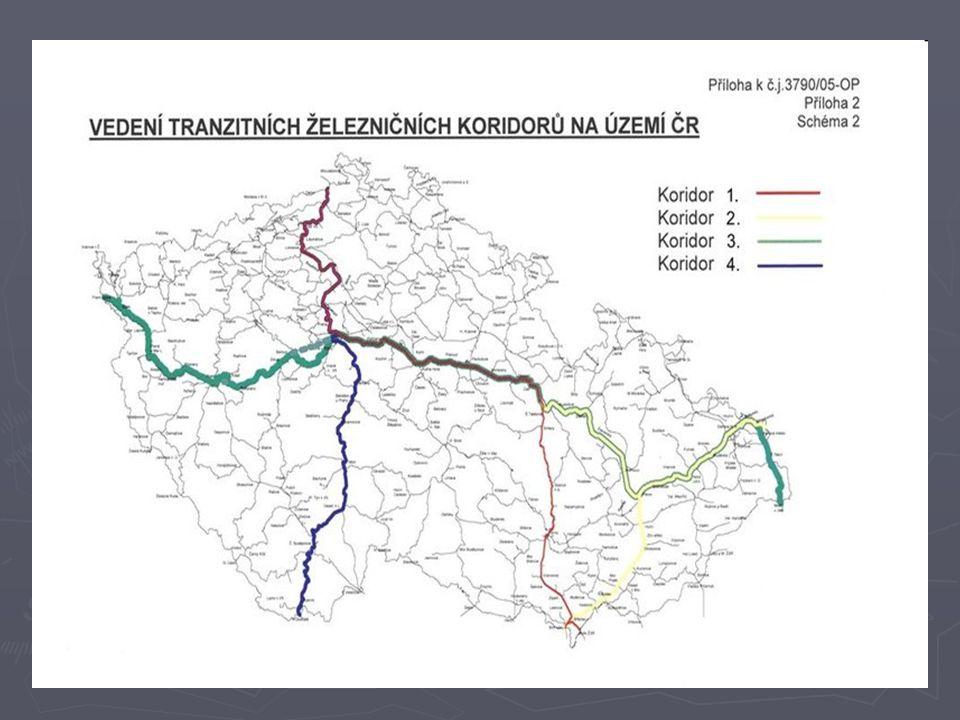 Systém páteřní sítě evropských koridorů v ČR ► 1.