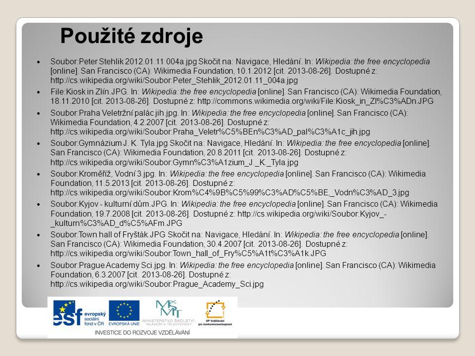 Použité zdroje Soubor:Prague Charles University.JPG.