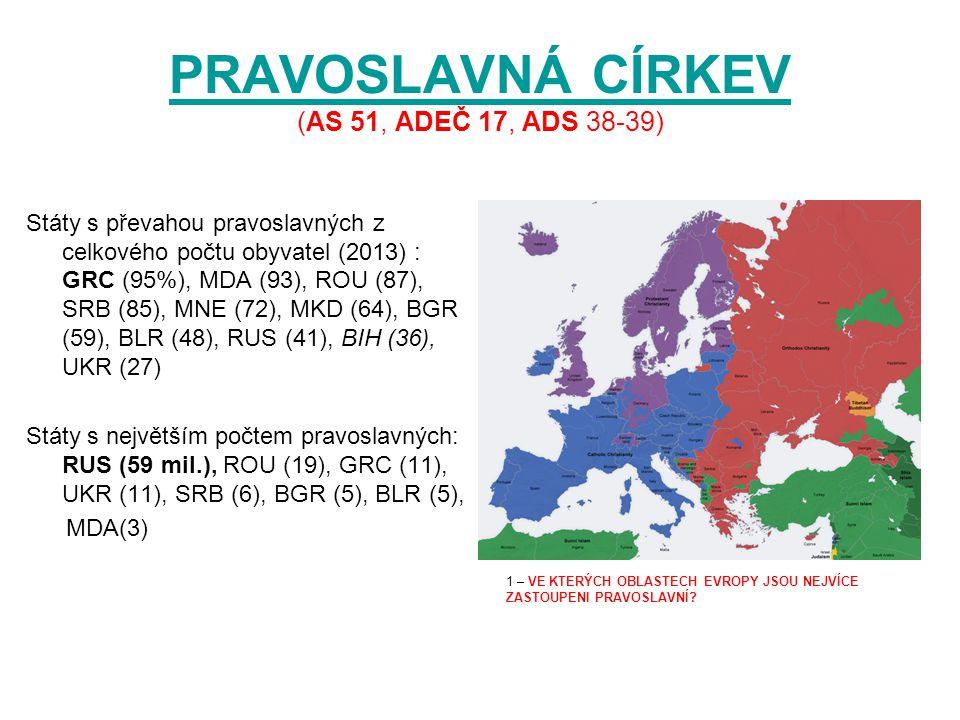 PROTESTANTSKÁ CÍRKEV PROTESTANTSKÁ CÍRKEV (AS 51, ADEČ 17, ADS 38-39) Směr vycházející z reformace v roce 1517 (Martin Luther - 95 tezí)95 tezí Státy s převahou protestantů z celkového počtu obyvatel (2013) : DNK (91%), ISL (91), NOR (90), SWE (86), FIN (85), GBR (60), EST (52), LVA (50), DEU (38), NLD (33) Státy s největším počtem protestantů: GBR (36 mil.), DEU (31), SWE (8), NLD (5), DNK (5), FIN (4), NOR (4), CHE (4) 1 – VE KTERÝCH OBLASTECH EVROPY JSOU NEJVÍCE ZASTOUPENI PROTESTANTI.