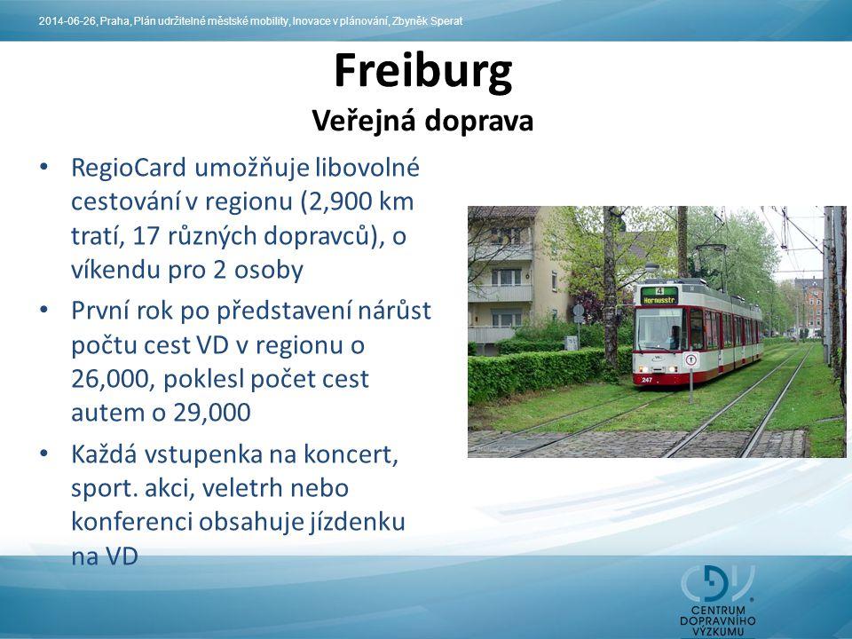 RegioCard umožňuje libovolné cestování v regionu (2,900 km tratí, 17 různých dopravců), o víkendu pro 2 osoby První rok po představení nárůst počtu ce