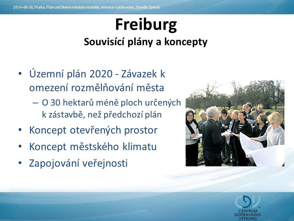 Územní plán 2020 - Závazek k omezení rozmělňování města – O 30 hektarů méně ploch určených k zástavbě, než předchozí plán Koncept otevřených prostor K