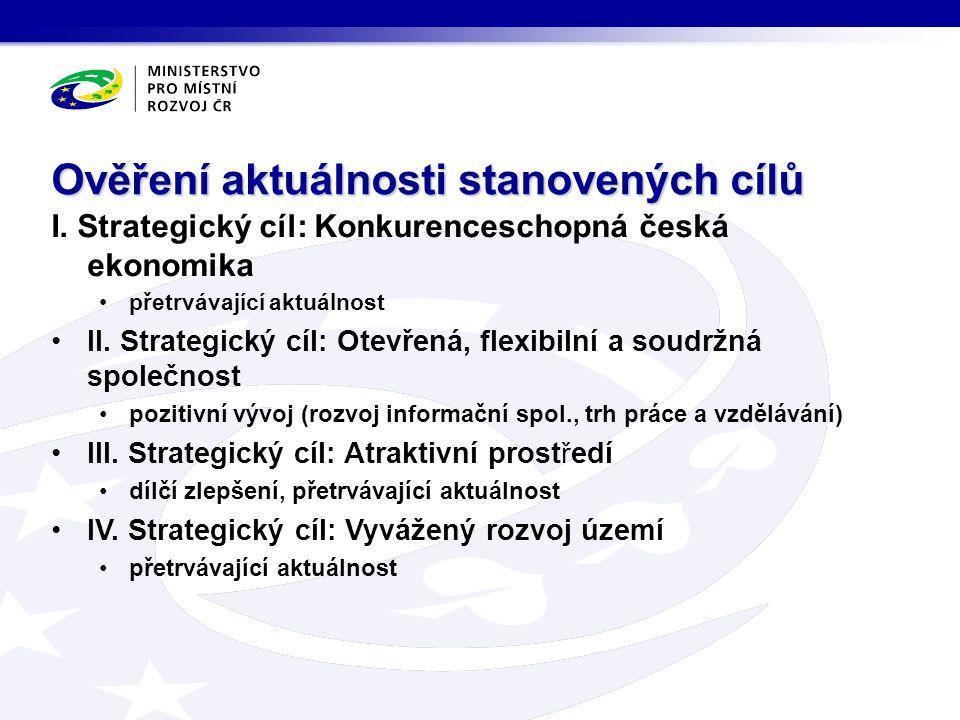 I. Strategický cíl: Konkurenceschopná česká ekonomika přetrvávající aktuálnost II. Strategický cíl: Otevřená, flexibilní a soudržná společnost pozitiv