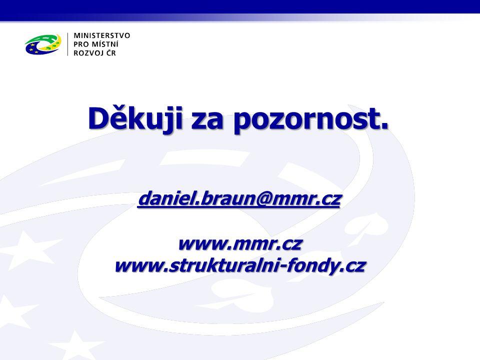 Děkuji za pozornost. daniel.braun@mmr.cz www.mmr.cz www.strukturalni-fondy.cz