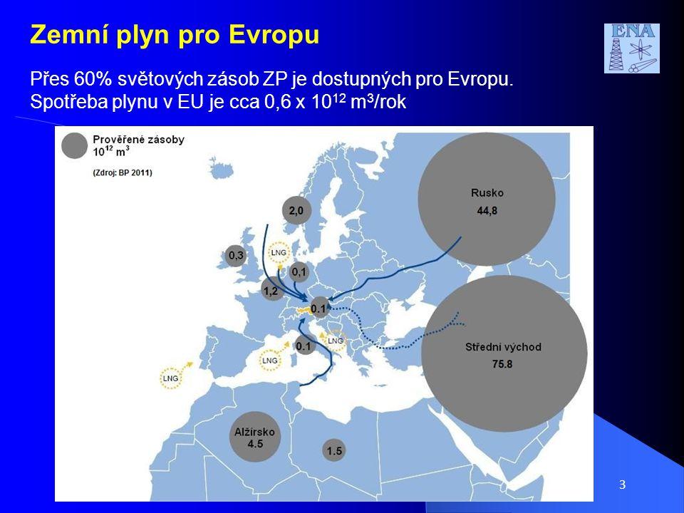 4 Zemní plyn pro Evropu Nabídka: Vedle tradičních směrů dodávky plynu do Evropy nové cesty – na podzim uveden do provozu Nord Stream - letos bude zahájena výstavba South Stream - Nabucco až 2017.