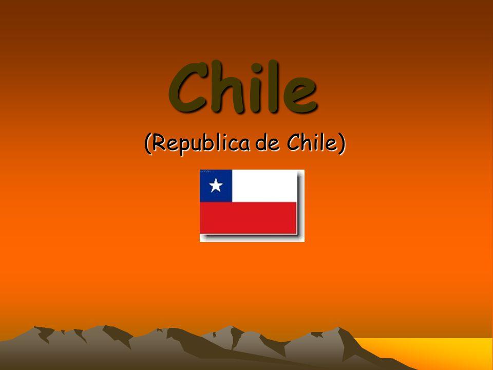 Hlavní město: Santiago Počet obyvatel: cca 16 miliónů Rozloha (km2): 756 950 Hustota osob/km2: 21 Úřední jazyk: španělština Náboženství: katolíci (84%), protestanti (13%) Národnostní složení: Chilané (91%), Araukáni (6%)