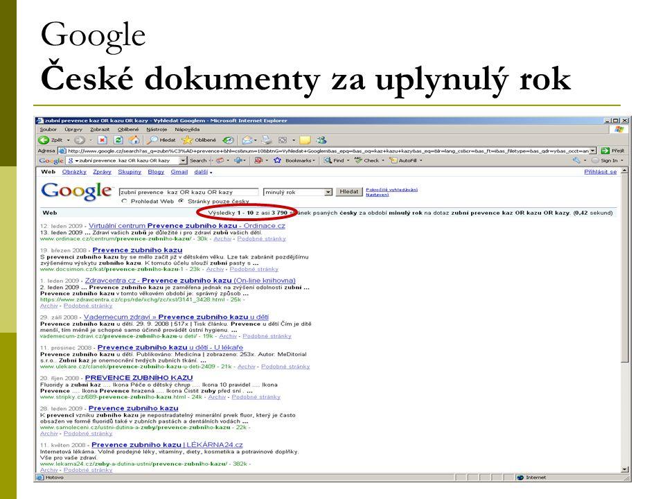 33 Google České dokumenty za uplynulý rok