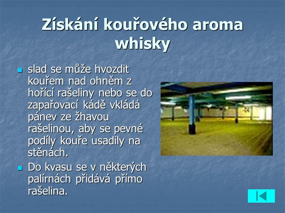 Kontrolní otázky 1.1. Jaké rozlišujeme základní druhy whisky.