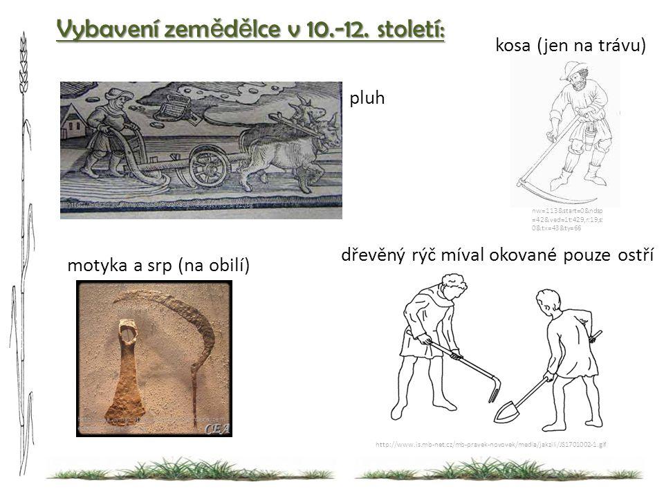 ozim http://www.is.mb-net.cz/mb-pravek-novovek/media/jakzili/JS1701002-1.gif Vybavení zem ě d ě lce v 10.-12. století: http://cea.livinghistory.cz/ziv