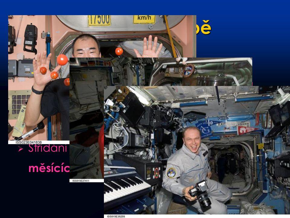 Život na palubě  Vesmírnou stanici trvale obývá 2-6 kosmonautů. Z toho 2 Rusové, zbylá místa připadají americké, evropské, japonské a kanadské straně