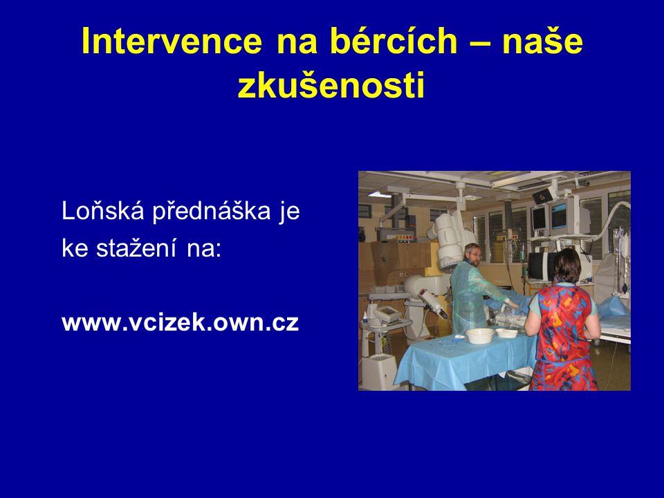 Intervence na bércích – naše zkušenosti Loňská přednáška je ke stažení na: www.vcizek.own.cz