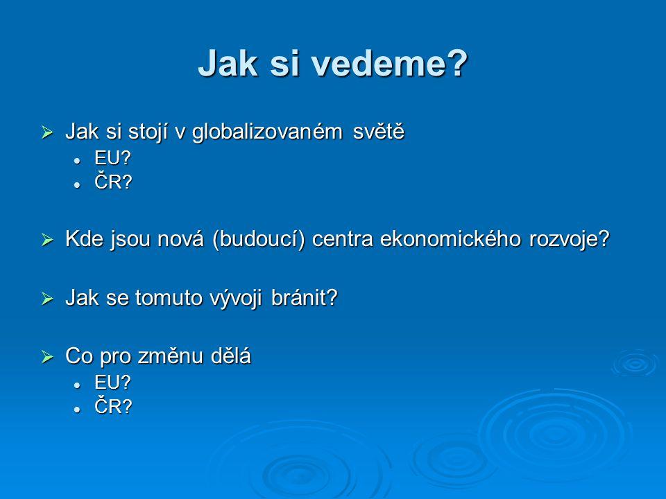 Jak si vedeme.  Jak si stojí v globalizovaném světě EU.