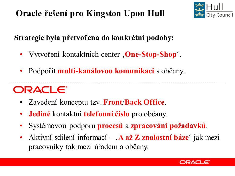 Oracle řešení pro Kingston Upon Hull Zavedení konceptu tzv.