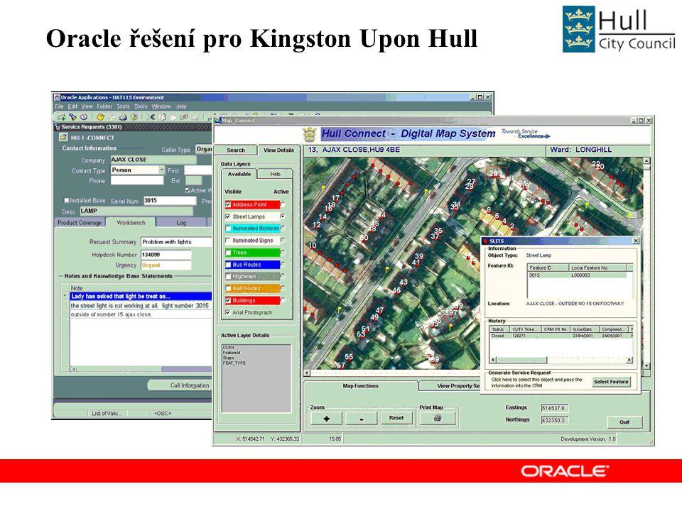 Oracle řešení pro Kingston Upon Hull
