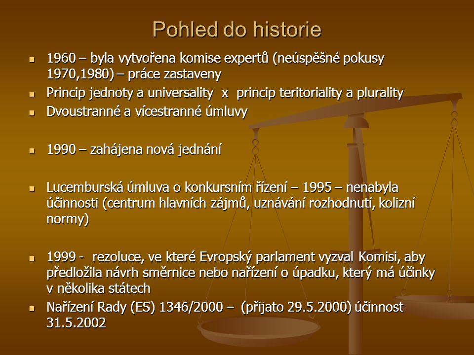 Pohled do historie 1960 – byla vytvořena komise expertů (neúspěšné pokusy 1970,1980) – práce zastaveny 1960 – byla vytvořena komise expertů (neúspěšné