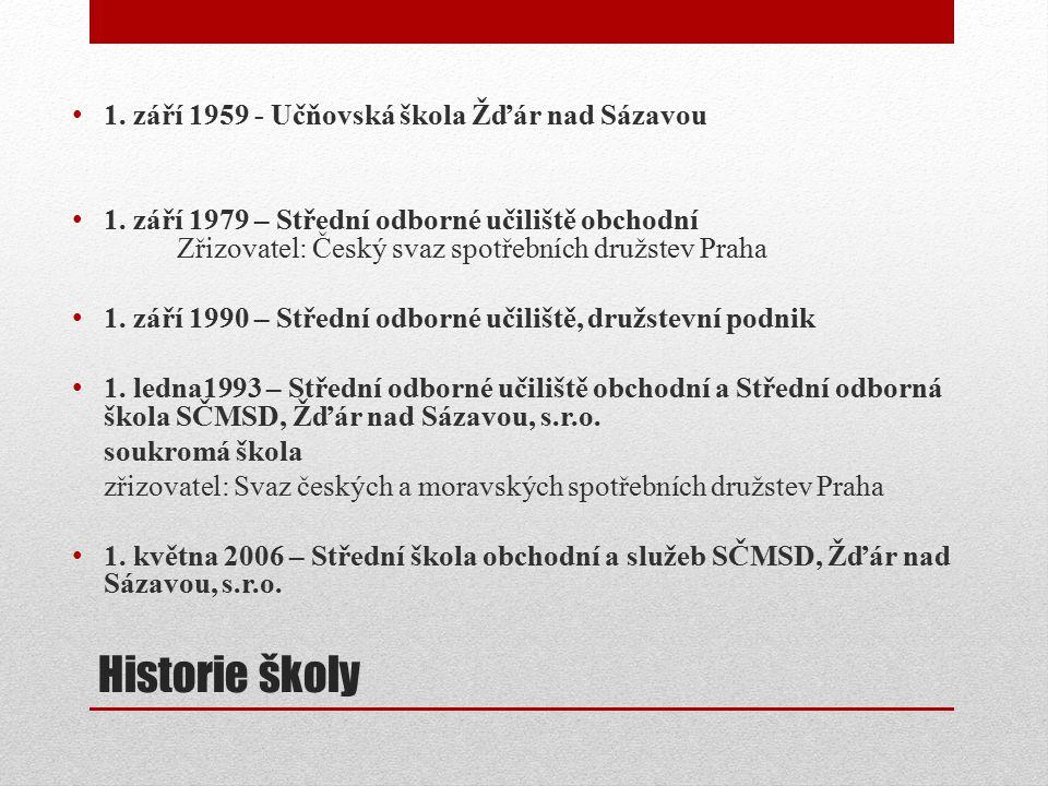 Historie školy 1. září 1959 - Učňovská škola Žďár nad Sázavou 1.