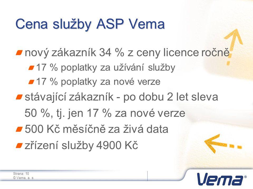 Strana: 10 © Vema, a. s.