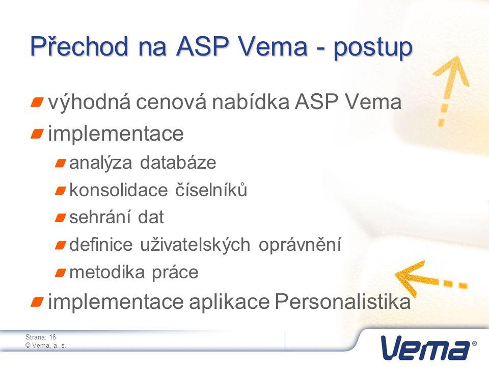 Strana: 16 © Vema, a. s.