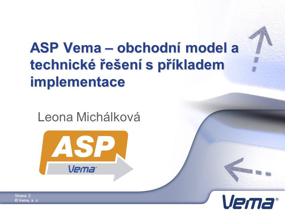 Strana: 2 © Vema, a. s.
