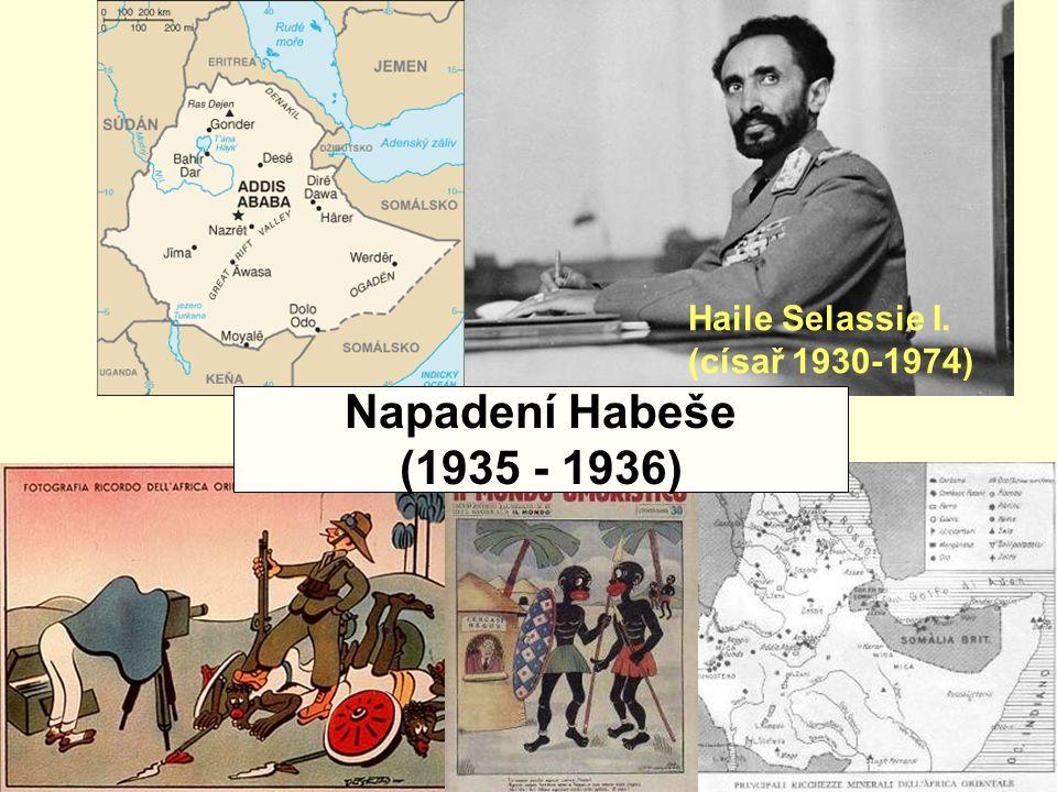Haile Selassie I. (císař 1930-1974) Napadení Habeše (1935 - 1936)