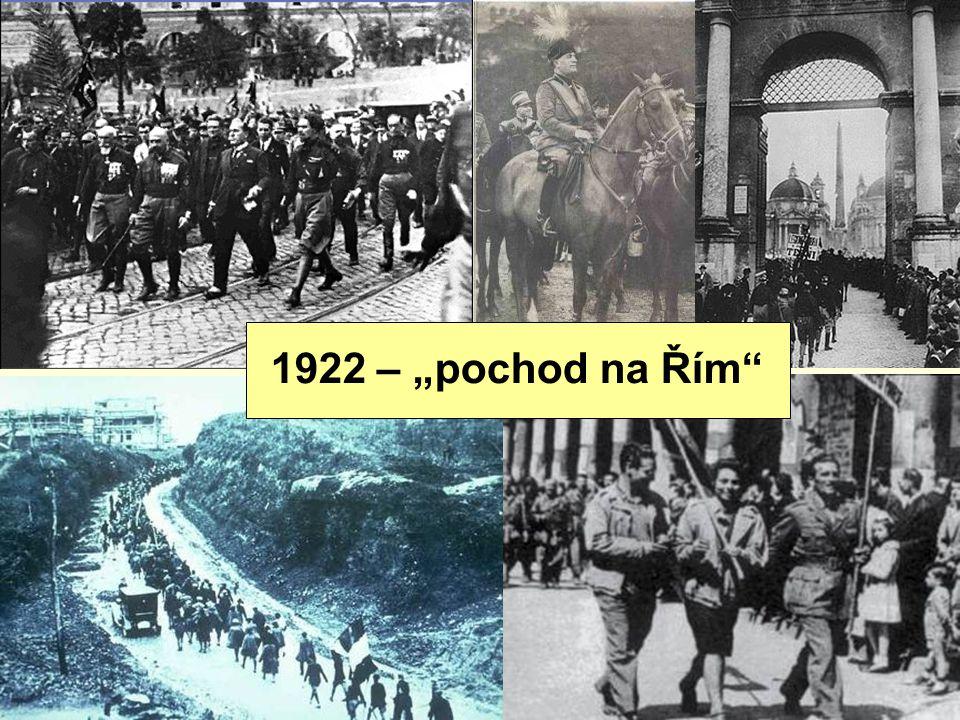 """1922 – """"pochod na Řím"""