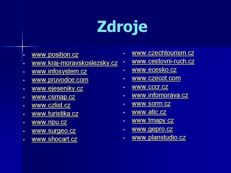 Zdroje www.position.cz www.position.cz www.position.cz www.kraj-moravskoslezsky.cz www.kraj-moravskoslezsky.cz www.kraj-moravskoslezsky.cz www.infosystem.cz www.infosystem.cz www.infosystem.cz www.pruvodce.com www.pruvodce.com www.pruvodce.com www.ejeseniky.cz www.ejeseniky.cz www.ejeseniky.cz www.csmap.cz www.csmap.cz www.csmap.cz www.czlist.cz www.czlist.cz www.czlist.cz www.turistika.cz www.turistika.cz www.turistika.cz www.npu.cz www.npu.cz www.npu.cz www.surgeo.cz www.surgeo.cz www.surgeo.cz www.shocart.cz www.shocart.cz www.shocart.cz www.czechtourism.cz www.czechtourism.cz www.czechtourism.cz www.cestovni-ruch.cz www.cestovni-ruch.cz www.cestovni-ruch.cz www.ecesko.cz www.ecesko.cz www.ecesko.cz www.czecot.com www.czecot.com www.czecot.com www.cccr.cz www.cccr.cz www.cccr.cz www.infomorava.cz www.infomorava.cz www.infomorava.cz www.sorm.cz www.sorm.cz www.sorm.cz www.atic.cz www.atic.cz www.atic.cz www.tmapy.cz www.tmapy.cz www.tmapy.cz www.gepro.cz www.gepro.cz www.gepro.cz www.planstudio.cz www.planstudio.cz www.planstudio.cz