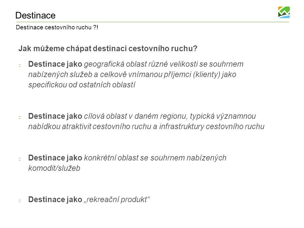 Destinace cestovního ruchu ?! Vymezení relevantních aktérů CR v Luhačovském Zálesí