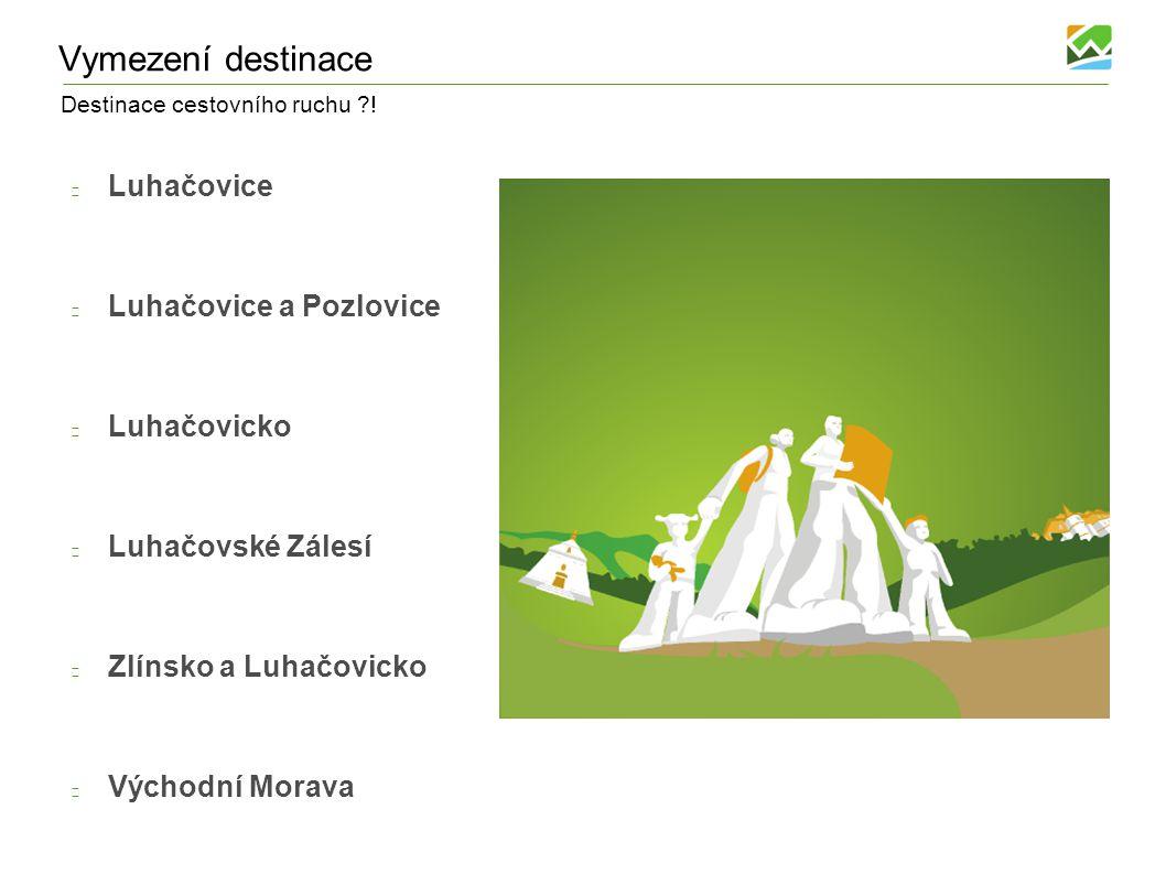 Destinace cestovního ruchu ?! Vymezení destinace Luhačovice Luhačovice a Pozlovice Luhačovicko Luhačovské Zálesí Zlínsko a Luhačovicko Východní Morava