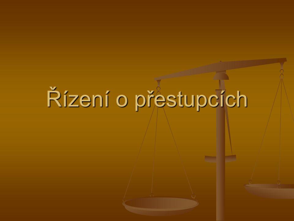 Právní úprava zákon č.200/1990 Sb., o přestupcích – předpis zvláštní zákon č.