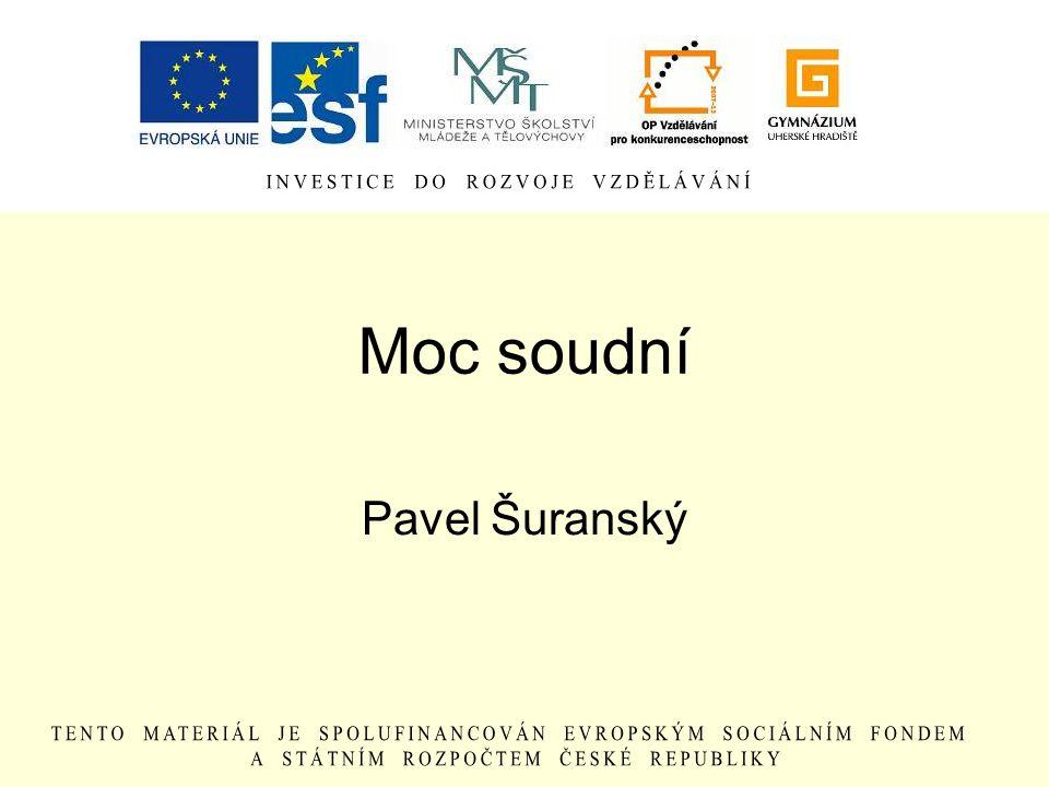 V ČR existuje ještě jeden soud… Ústavní soud Brno dohlíží na dodržování ústavnosti např.