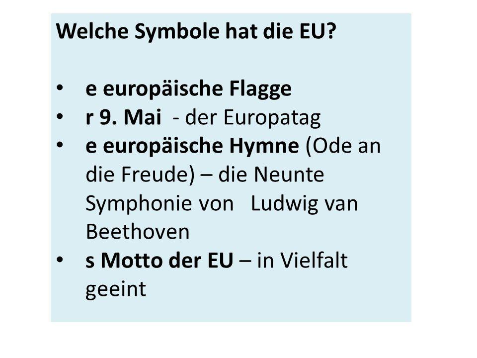 e europäische Flagge r 9.