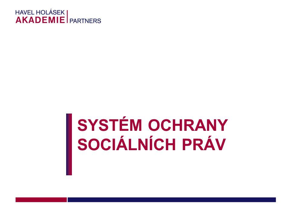 SYSTÉM OCHRANY SOCIÁLNÍCH PRÁV
