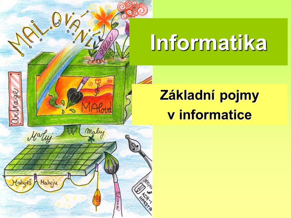 Informatika Základní pojmy v informatice