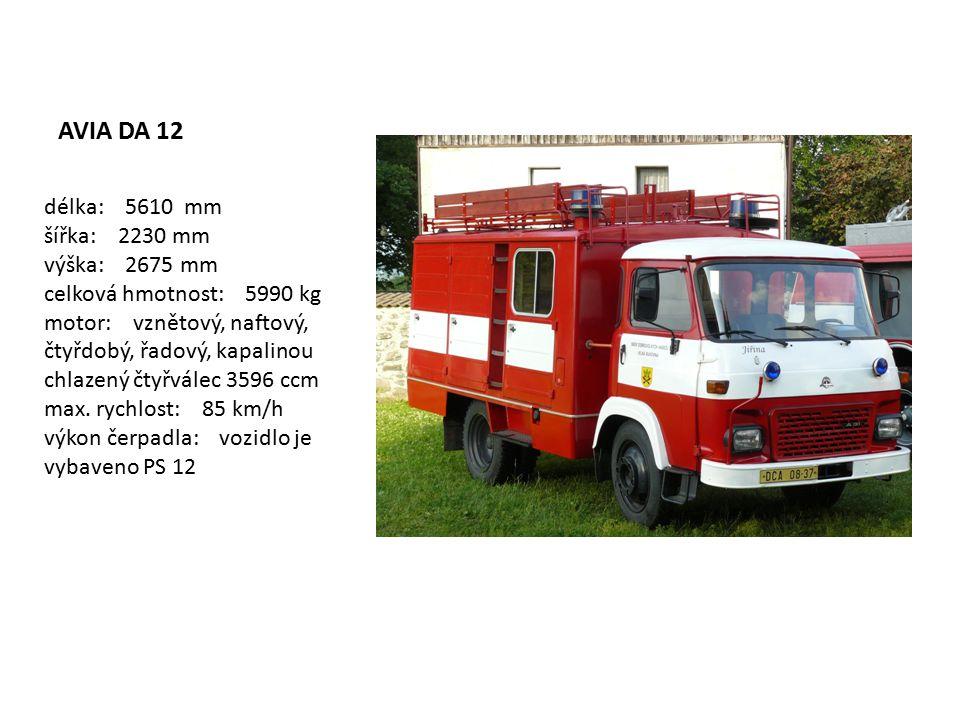 Dopravní automobil DA 12-A31 Dopravní automobil DA 12-A31 je požární automobil určený pro úplné požární družstvo.