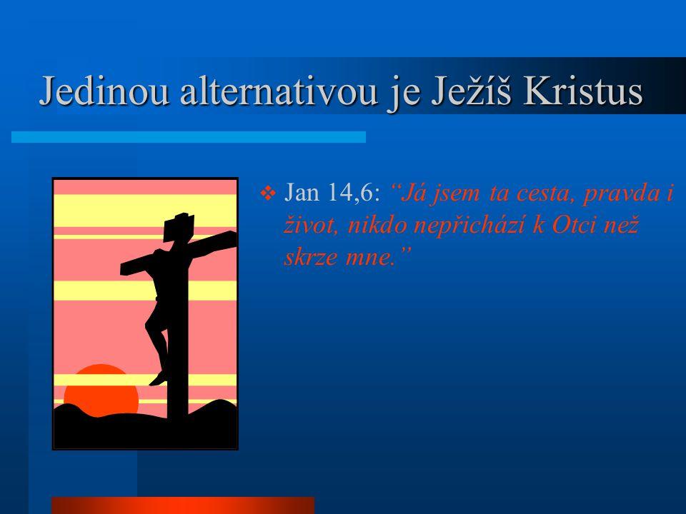 """Jedinou alternativou je Ježíš Kristus Jedinou alternativou je Ježíš Kristus  Jan 14,6: """"Já jsem ta cesta, pravda i život, nikdo nepřichází k Otci než"""