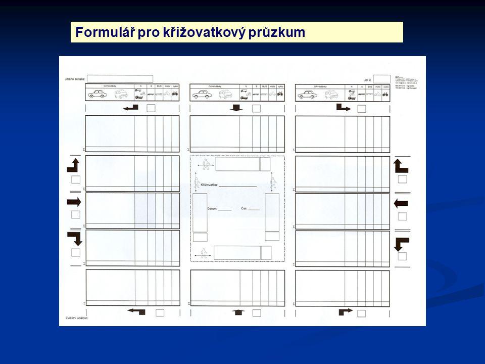 Formulář pro křižovatkový průzkum