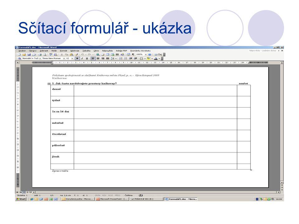 Sčítací formulář - ukázka