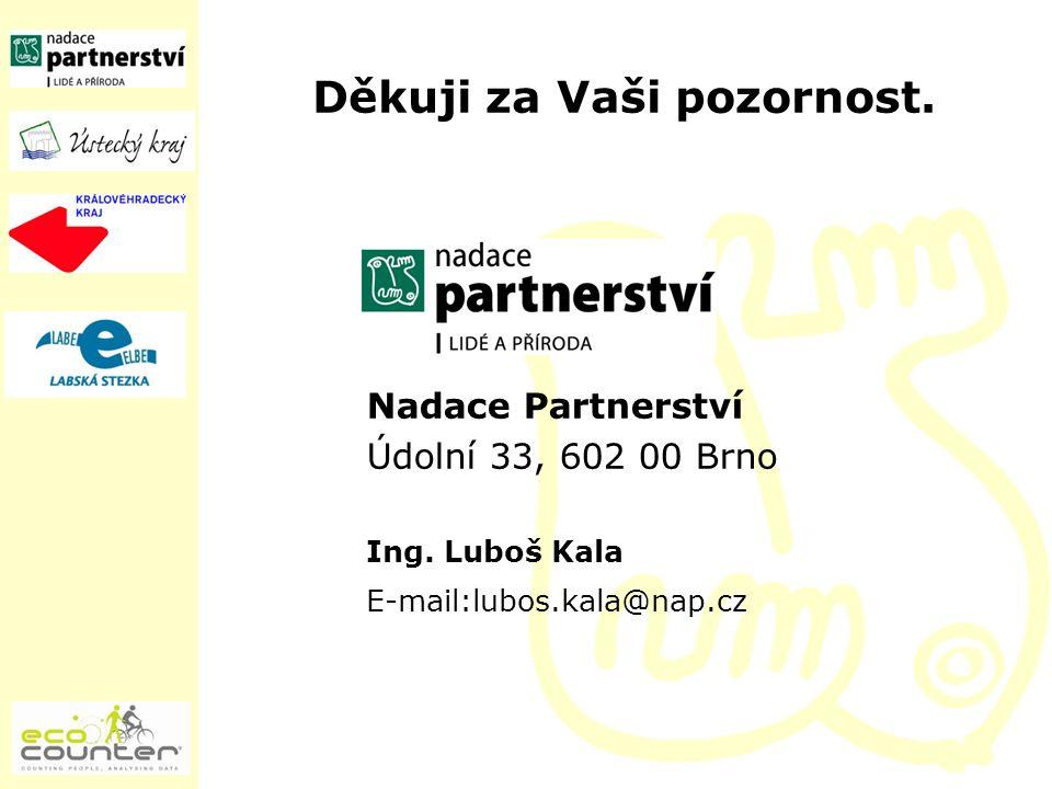 Děkuji za Vaši pozornost. Nadace Partnerství Údolní 33, 602 00 Brno Ing. Luboš Kala E-mail:lubos.kala@nap.cz