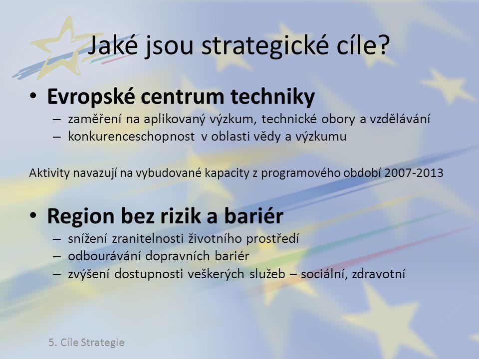 Jaké jsou strategické cíle? Evropské centrum techniky – zaměření na aplikovaný výzkum, technické obory a vzdělávání – konkurenceschopnost v oblasti vě