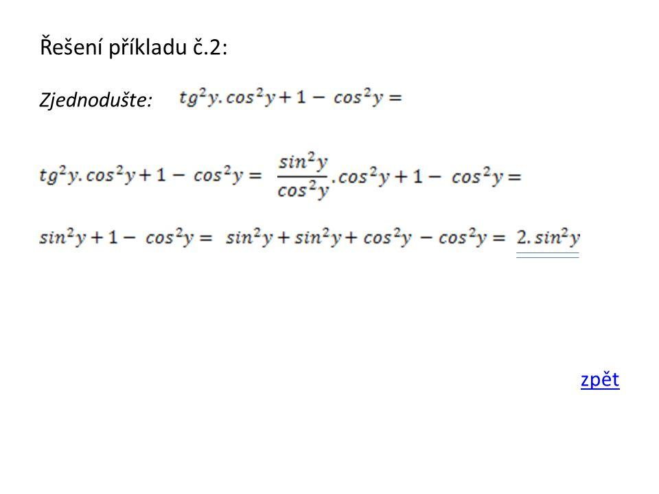 Řešení příkladu č.3: Zjednodušte: zpět