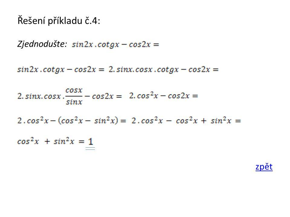 Řešení příkladu č.5: Zjednodušte: zpět