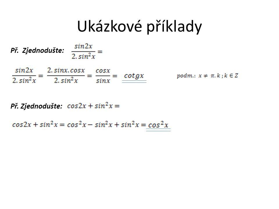 Příklady na procvičení př.1: Zjednodušte: Řešení př.