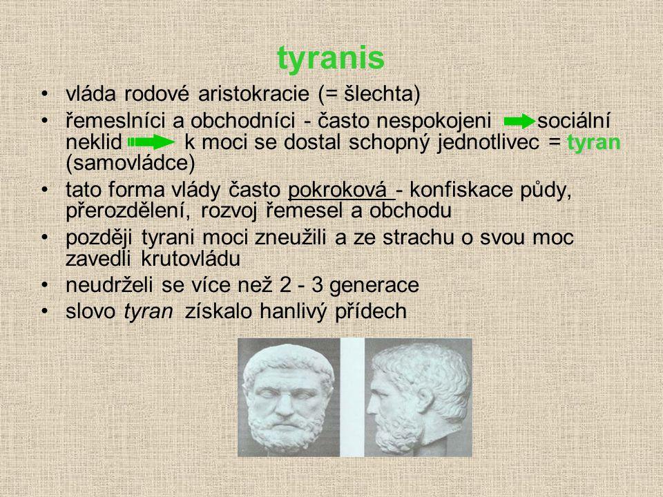 Další prohloubení athénské demokracie: (6.století př.