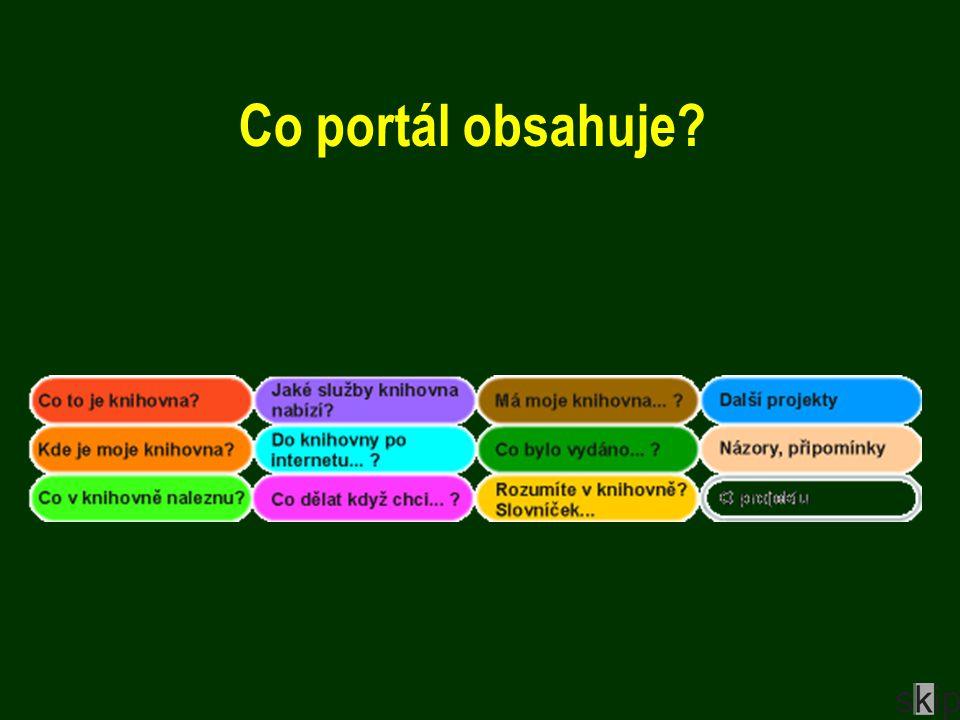 Co portál obsahuje?