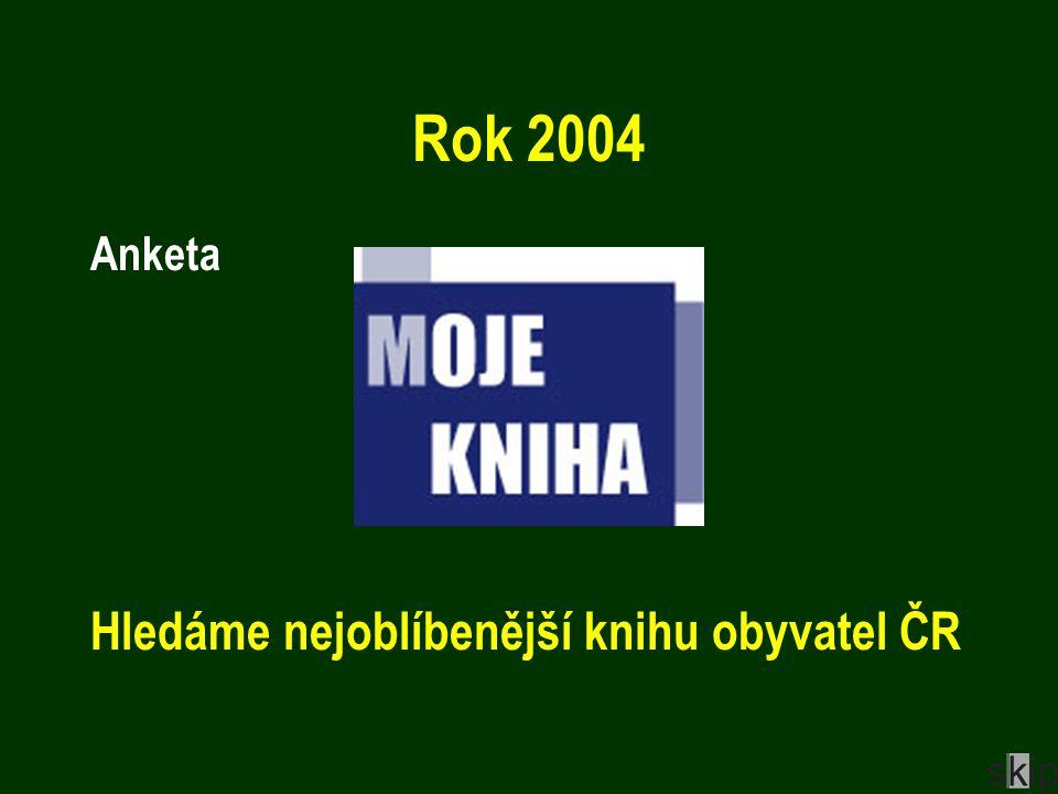 Rok 2004 Anketa Hledáme nejoblíbenější knihu obyvatel ČR