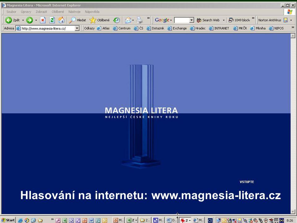 Hlasování na internetu: www.magnesia-litera.cz