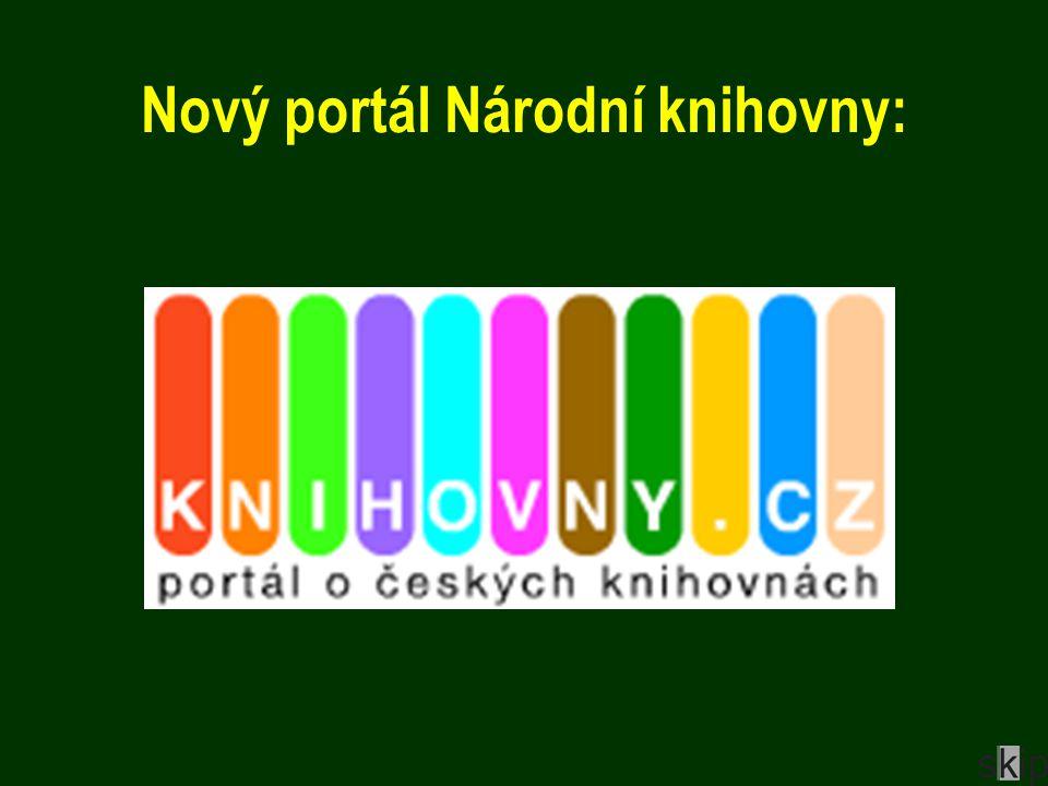 Nový portál Národní knihovny: