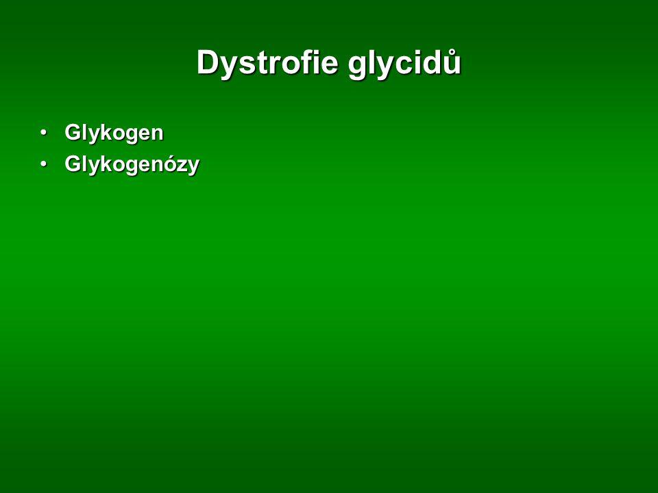 Dystrofie glycidů GlykogenGlykogen GlykogenózyGlykogenózy
