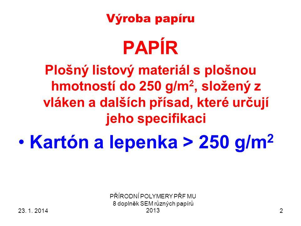 Výroba papíru 23.1.