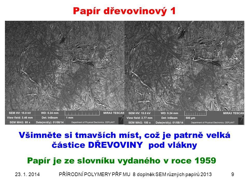 """Papír křídový- ANALÝZA PLNIV 4 """"projet celý snímek a spektra sumarizována 23."""