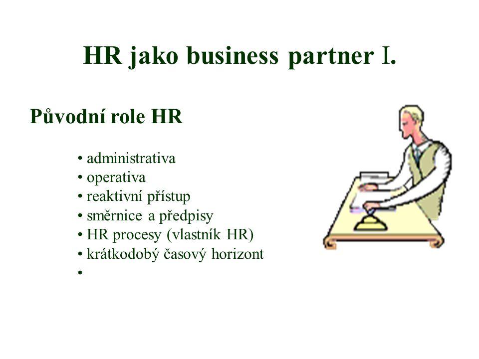 HR jako business partner I.